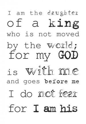 Daughter of God King Quote Spiritual Christian Faith Christ Higher ...