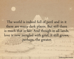 ... love is now mingled with grief, it still grows, perhaps, the greater