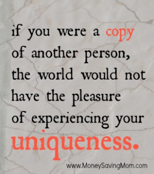 If you were a copy of another person…