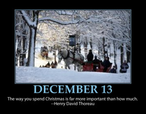 ... 13 ~ Christmas Advent Calendars Inspirational Quotes ~ Family Time