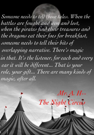 Favorite quote from 'The Night Circus'