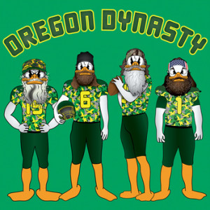 OREGON DUCK DYNASTY FOOTBALL FAN - Quack Attack In Camo And Beards