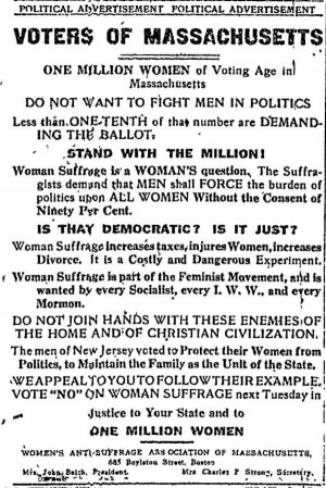 ... women's suffrage. Women were given the ability to vote five year