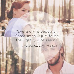 van The Notebook. Dit is echt een van de mooiste quotes die ik ben ...