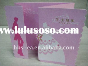 Wedding greeting cards with paper crafts Wedding greeting card 1.