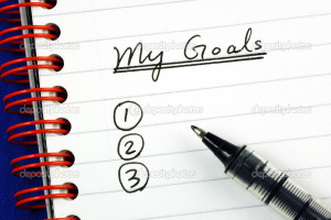 My goals list concepts of target and objective - Stock Image
