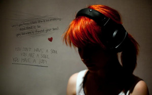 hayley williams paramore headphones women redheads quotes graffiti ...