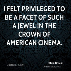 felt privileged to be a facet of such a jewel in the crown of ...