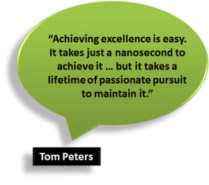 tom peters quote excellence