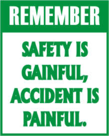 View Product Details: safety stickers:Safety Slogan