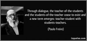 teacher-of-the-students and the students-of-the-teacher cease to exist ...
