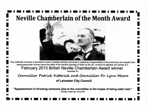 Give us your March 'Neville Chamberlain Award' Nominations.