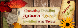 Autumn Silence Quote Facebook Cover