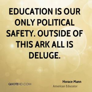 Horace Mann Education Quotes