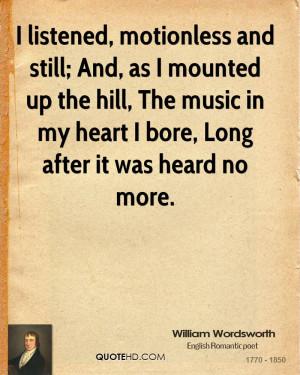 William Wordsworth Music Quotes