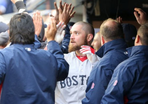 in with his new team, the Boston Red Sox, who famously had chemistry ...