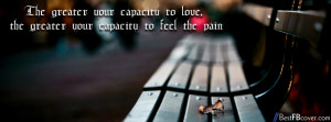 feel love & pain Facebook cover