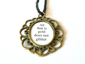 Lord of the rings Tolkien Quote Necklace. Back to school jewelry. LOTR ...