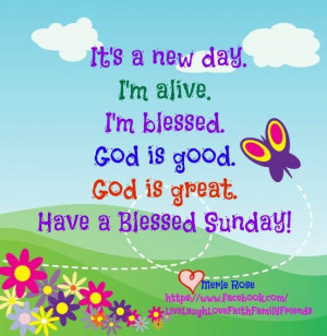 Have a blessed Sunday...Happy Sunday, Blessed Sunday, Daily ...