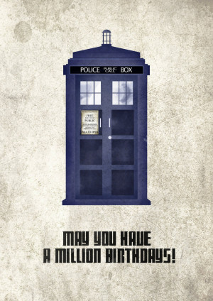 Doctor Who Happy Birthday Tags