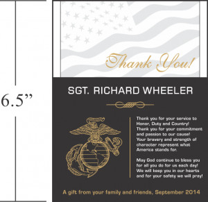 gift from your fellow marines and officers
