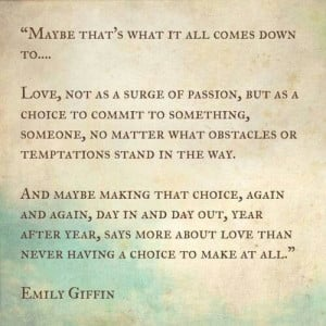 Make a choice and commit to it.