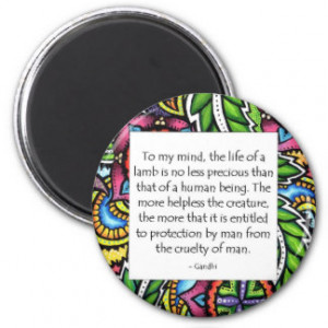 Gandhi Animal Quote Fridge Magnets