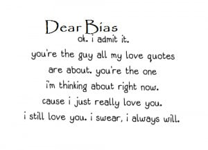 dearbias you are my world my life my soul my reason for everything ...