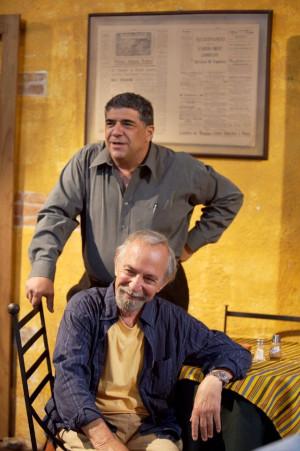 Ben Gazzara and Vincent Pastore in Looking for Palladin
