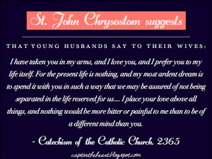 St. John Chrysostom on Marriage