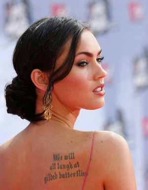 megan fox (we will all laugh at gilded butterflies) - dumb celebrity ...
