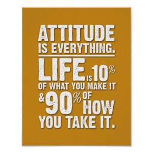 Attitude is Everything Poster - Orange