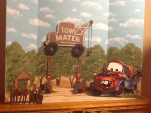 Tow Mater Towing Salvage Party Display Mator