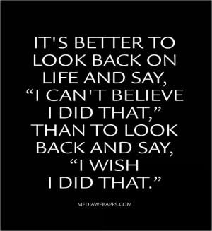 life and say,