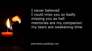 Missing You Death Anniversary Quotes