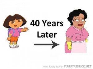 dora explorer 40 years later mexican cleaning lady consuela family guy ...