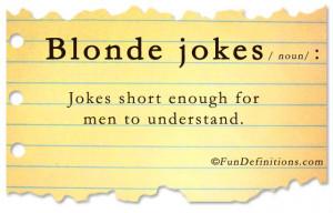 Fun Definitions – Blonde Jokes