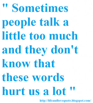 Quotes About Hurtful Words