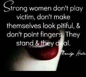 Strong women.