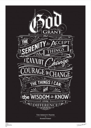 Inspirational quotes: Serenity Prayer poster / Reinhold Niebuhr