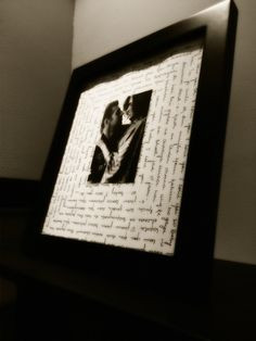 ... around the picture and frame it. Nice gift for the boyfriend More