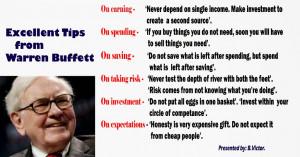 Personal finance tips from Warren Buffett