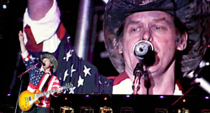 Ted Nugent performs during the Rockin the Corps thank you concert for ...
