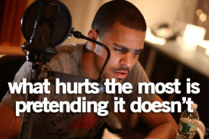 Rapper, j cole, quotes, sayings, hurt, favorite quote