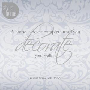 Quotes About Decorating QuotesGram