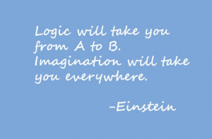 Logic will take you from A to B. Imagination will take you everywhere ...