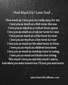 bedtime poem for parents how much do i love you more bedtime poem