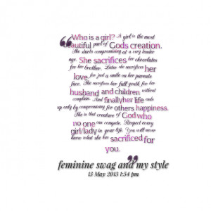 Quotes Picture: who is a girl? a girl is the most beautiful part of ...