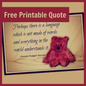 Free Printable Quote From