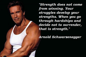 Do you know that Arnie has his own rules for success? Here they are…